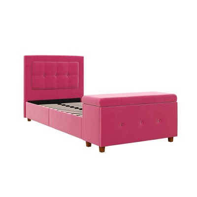 Darci Upholstered Bed with Storage Chest - Room & Joy