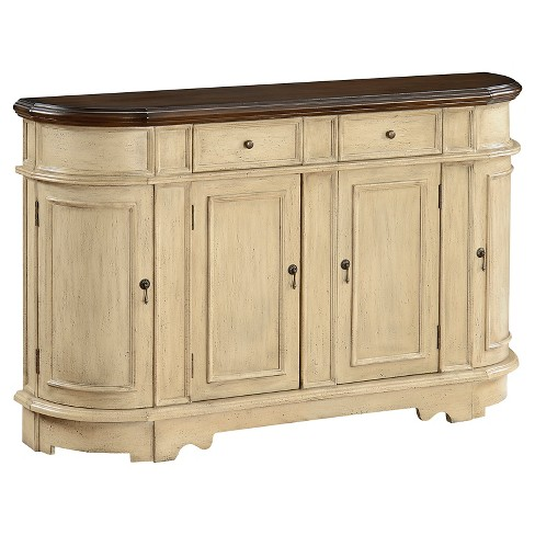 Two Drawer Four Door Credenza - Ivory - Christopher Knight Home - image 1 of 4