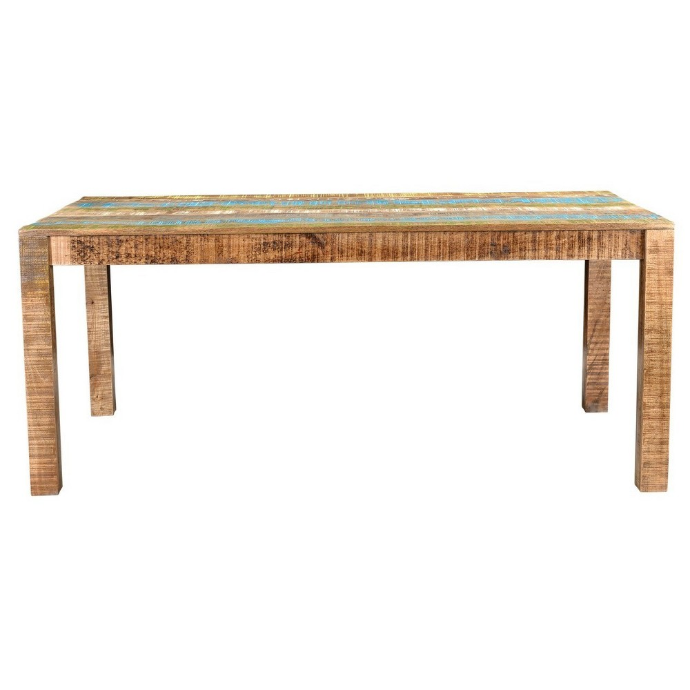 Suman Rustic 71 Dining Table - Timbergirl, Multi-Colored