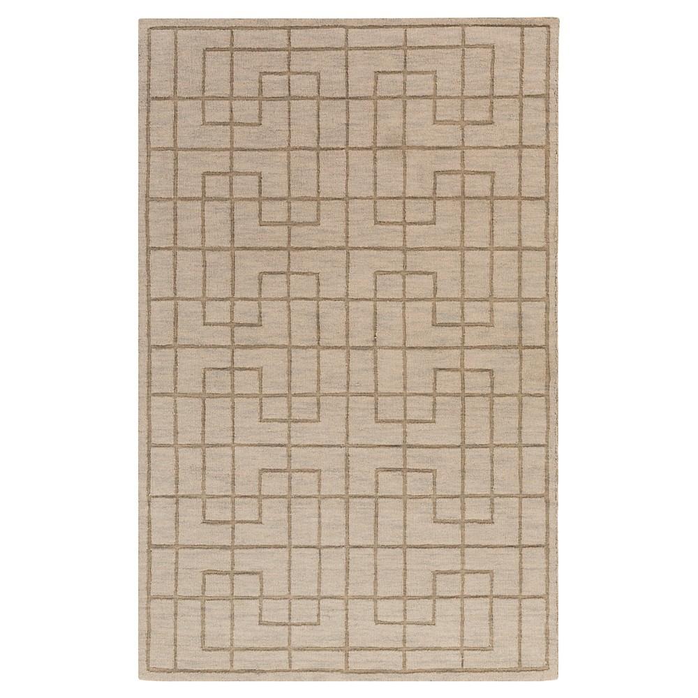 Gray Abstract Loomed Area Rug - (5'X8') - Surya, Medium Gray