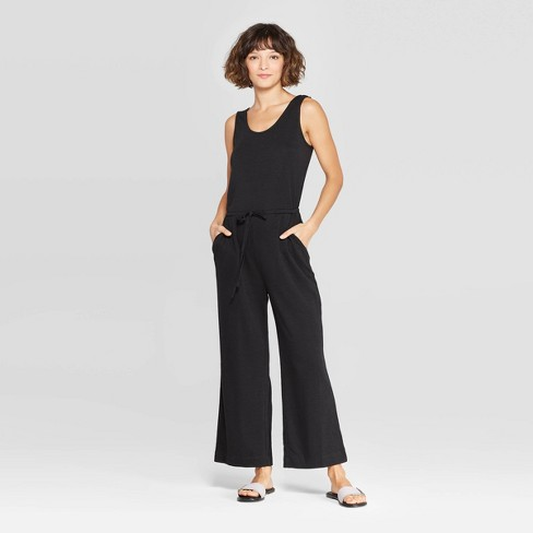 Women's Sleeveless Scoop Neck Knit Jumpsuit - A New Day™ - image 1 of 10