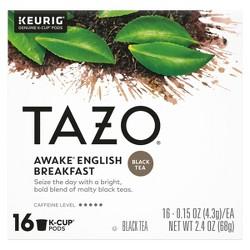 Tazo Awake English Breakfast Tea - Keurig K-Cup Pods - 16ct