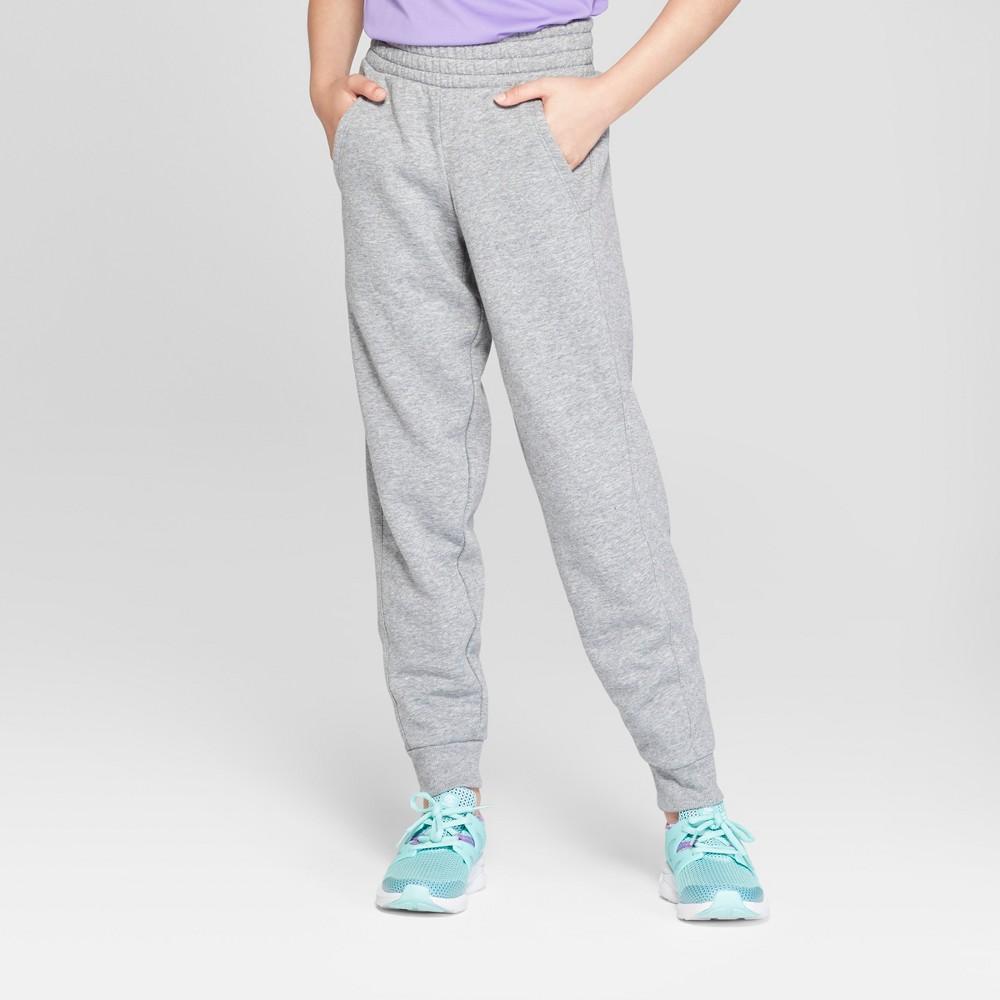 Girls' Plus Cotton Fleece Jogger - C9 Champion Light Gray Heather L Plus, Girl's, Size: Large Plus, Grey Grey