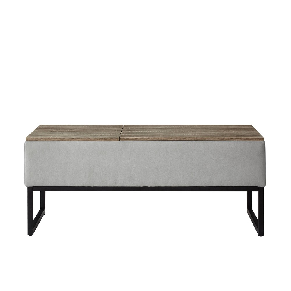 Image of Sophie Functional Coffee Table with Storage Light Gray - Relax A Lounger