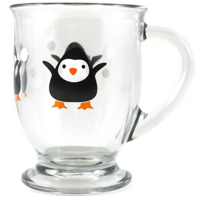 Anchor Hocking Holiday Penguin 16 Ounce Cafe Mug, Set of 6
