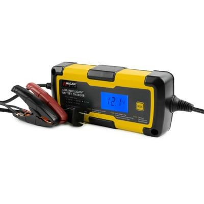 Wagan 4.0A Intelligent Battery Charger Black/Yellow