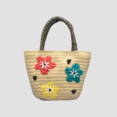 Toddler Girls' Flower Tote Bag - Cat & Jack™ Beige
