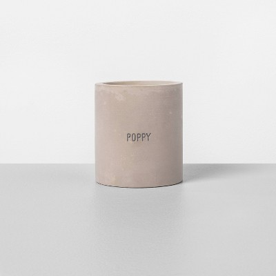 Cement Poppy Candle - Hearth & Hand™ with Magnolia
