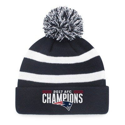 NFL AFC Conference Champs New England Patriots Breakaway Knit Beanie with Pom by Fan Favorite