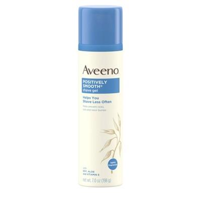 Aveeno Positively Smooth Moisturizing Shave Gel with Aloe - 7oz
