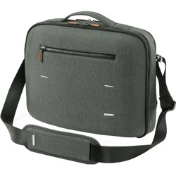 "Cocoon Carrying Case (Briefcase) for 13"" MacBook Pro - Graphite - Water Resistant - Wood Zipper, Ballistic Nylon Zipper - Shoulder Strap, Handle"