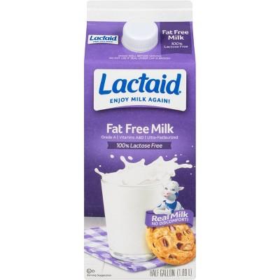Lactaid Lactose-Free Skim Milk - 0.5gal