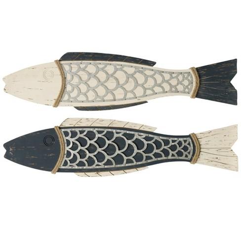 "11"" 2pc Couple Fish Wood and Decorative Wall Art - StyleCraft - image 1 of 3"