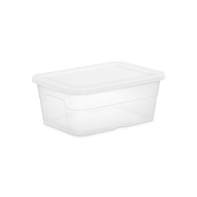 16qt Clear Storage Box with Lid White - Room Essentials™