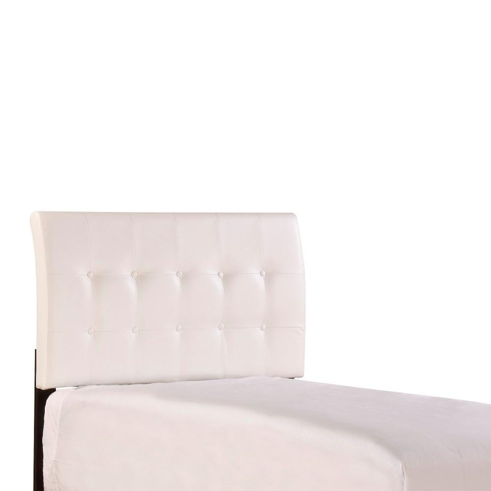 Lusso Headboard - White (Twin) - Hillsdale Furniture, Snowflake