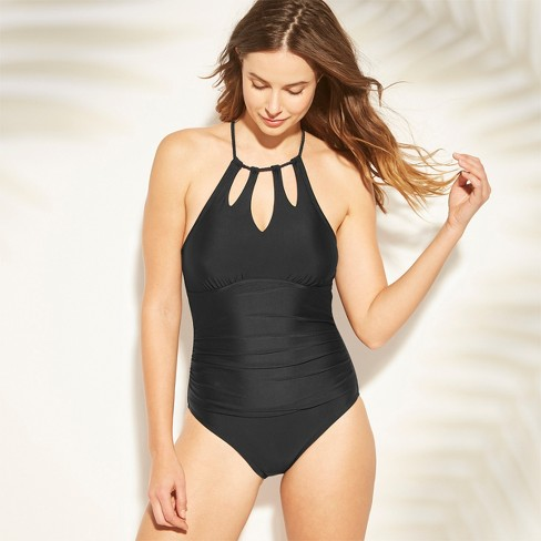 4ccf867149 Women s Shirred Keyhole Braided Strap One Piece Swimsuit - Kona Sol ...