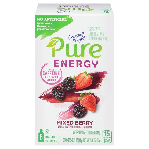 Crystal Light Pure Mixed Berry Energy Mix - 6pk/1.8oz - image 1 of 1