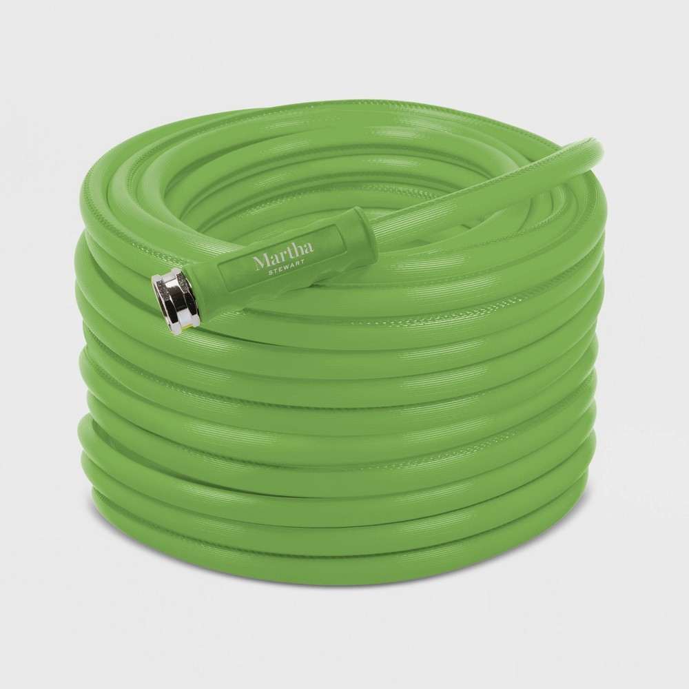 Image of 100' Heavy Duty Max Flow All Purpose Garden Hose Green - Martha Stewart