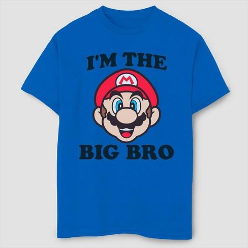 Boys' Super Mario Bros Mario Big Bro T-Shirt - Royal Blue - image 1 of 2