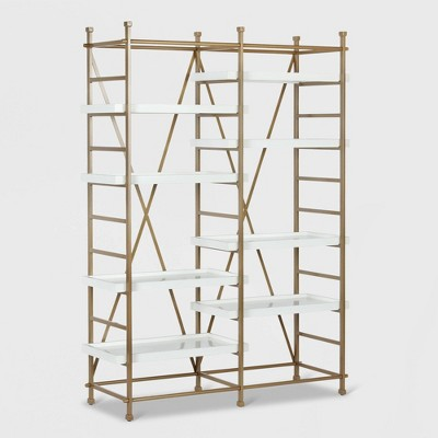 Yves Metal Bookcase Etagere White   Cosmo Living By Cosmopolitan by Cosmo Living By Cosmopolitan