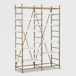 Yves Metal Bookcase Etagere White - CosmoLiving by Cosmopolitan