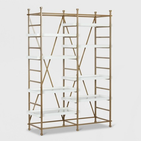 Yves Metal Bookcase Etagere White - CosmoLiving by Cosmopolitan - image 1 of 8