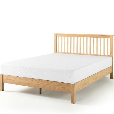 Becky Farmhouse Wood Platform Bed Natural - Zinus