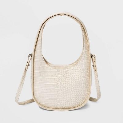 Alligator Print Mini Crescent Tote Handbag - A New Day™