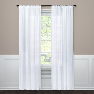 Sheer Curtain Panel Horizontal White 54 x84  - Project 62™