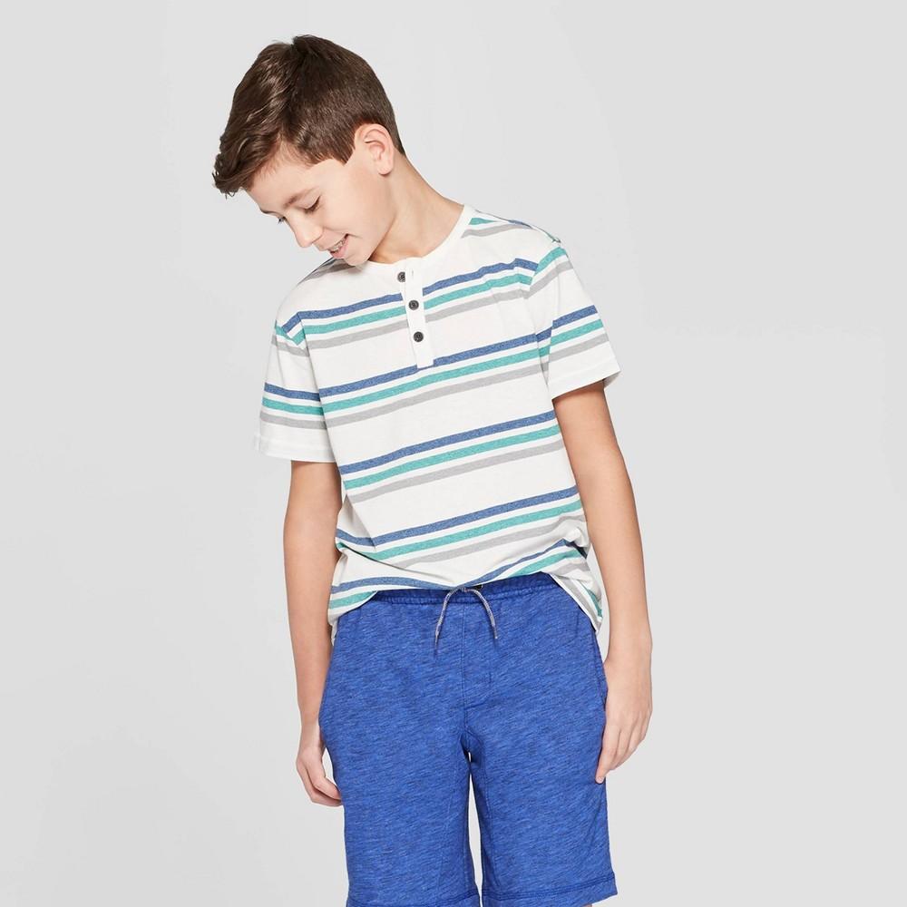5f003ec25 Boys Knit Short Sleeve Henley Shirt Cat Jack S Green