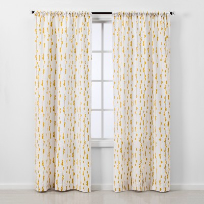 2pc 84 x40  Light Filtering Window Curtain Panel Yellow/White - Project 62™