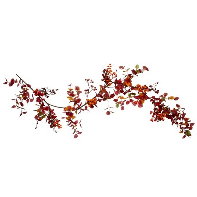 Northlight 5' Berry and Leaves Fall Harvest Artificial Garland - Unlit