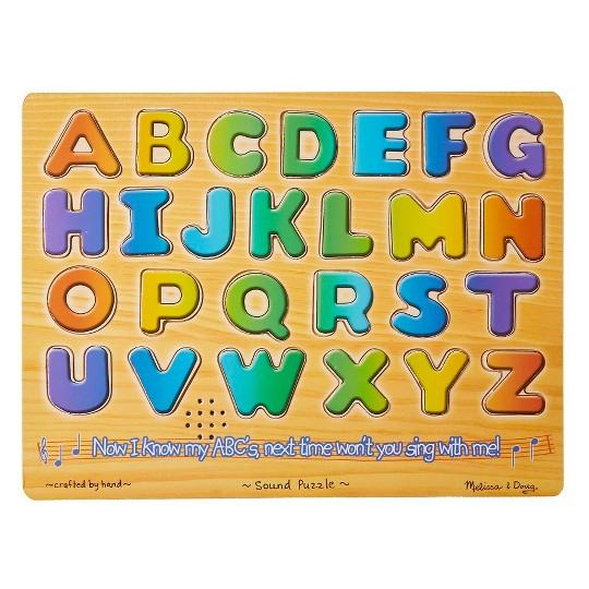 Melissa And Doug Alphabet Sounds Wooden Puzzle 26pc image number null