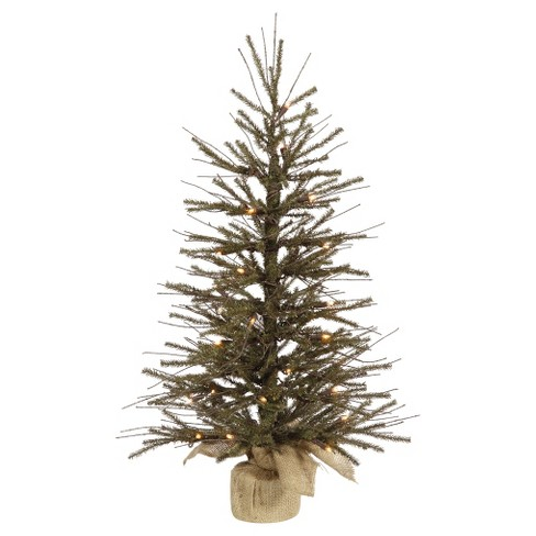 4 ft Pre-Lit Vienna Twig Artificial Christmas Tree in Burlap Base with Clear Lights - image 1 of 1