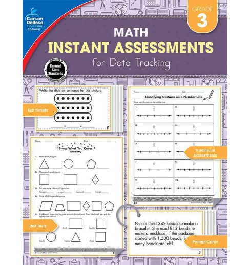 Instant Assessments for Data Tracking Math Grade 3 (Paperback) (Erin McCarthy) - image 1 of 1