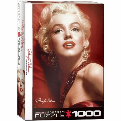 Eurographics Inc. Marilyn Monroe Red Portrait by Sam Shaw 1000 Piece Jigsaw Puzzle