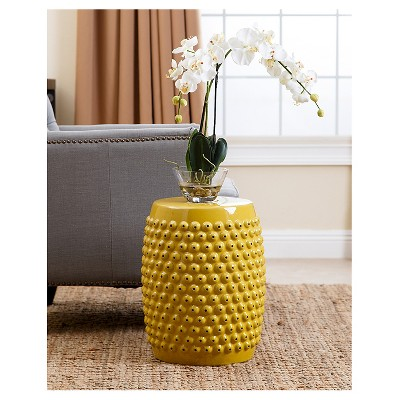 Lovely Sophia Yellow Pierced Ceramic Garden Stool   Abbyson Living : Target