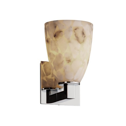 Justice Design Group ALR-8921-18 Alabaster Rocks 1 Light Bathroom Sconce - image 1 of 1