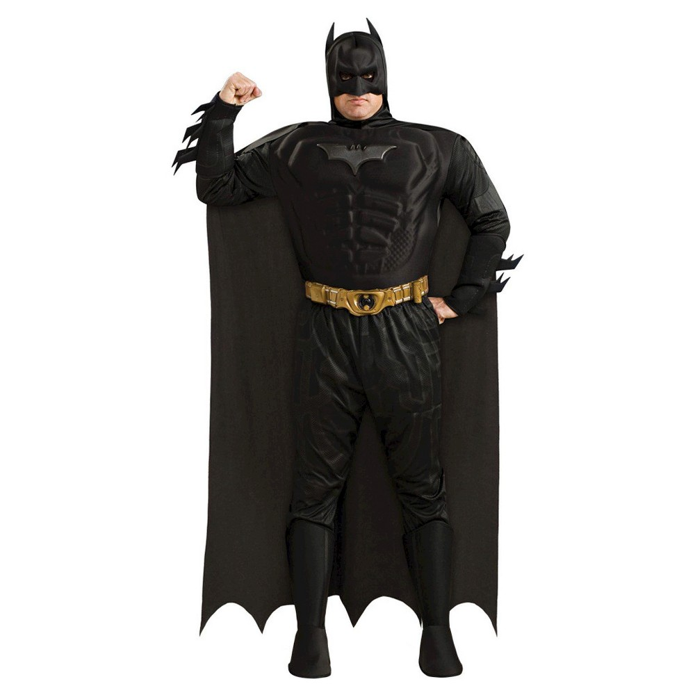 Batman The Dark Knight Rises Men's Muscle Chest Deluxe Adult Costume X-Large, Size: XL, Black