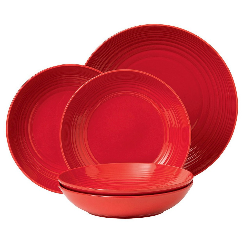 Gordon Ramsay by Royal Doulton Stoneware 5pc Pasta Bowl Set Red