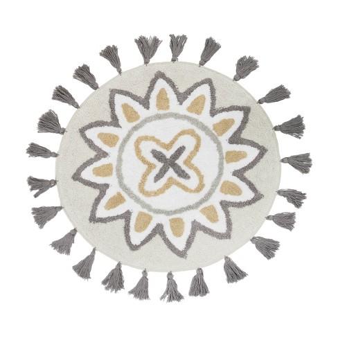Medallion Ikat Bath Rug Natural - Allure Home Creations - image 1 of 4
