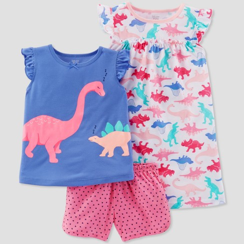 e0cd2c1eb Baby Girls  3pc Dinosaurs Pajama Set - Just One You® Made By ...