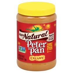 Peter Pan Natural Creamy Peanut Butter - 40oz