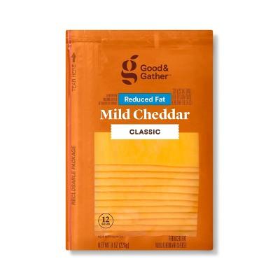 Reduced Fat Mild Cheddar Deli Sliced Cheese - 8oz/12 slices - Good & Gather™