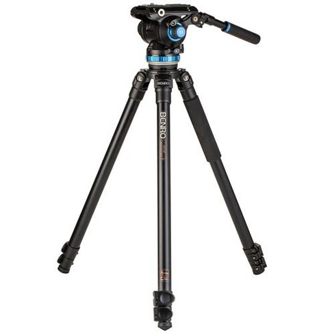 Benro A373F 3-Leg Section Aluminum Single-Tube Video Tripod with S8PRO Video Head, Payload 17.6 lbs - image 1 of 4