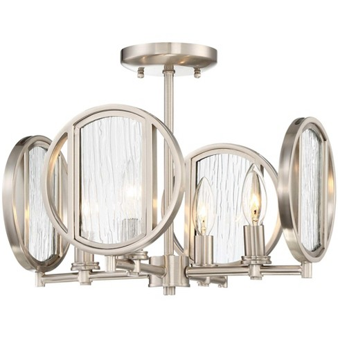 """Minka Lavery 3067-84 4 Light 15"""" Wide Semi-Flush Ceiling Fixture from the Via Capri Collection - image 1 of 1"""