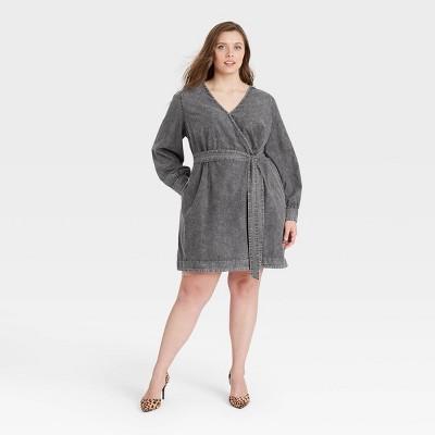 Women's Puff Long Sleeve Dress - Who What Wear™ Black