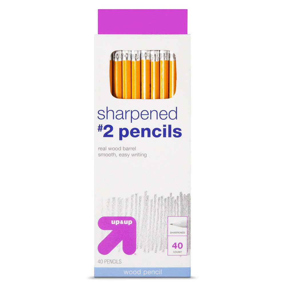 Sharpened #2 Wood Pencils 40ct - Up&Up, Yellow