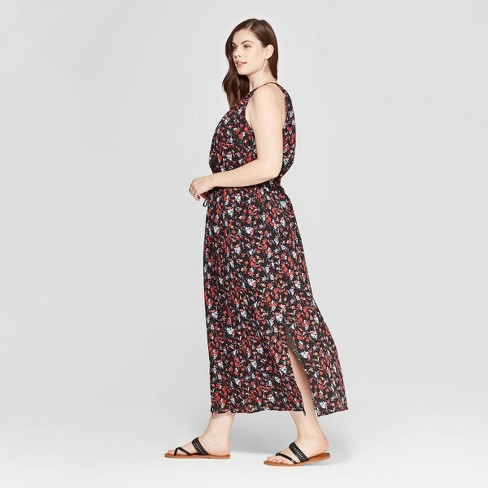 da596be899 Women's Plus Size Floral Print Sleeveless Crew Neck Maxi Dress - Universal  Thread™ Black. Shop all Universal Thread