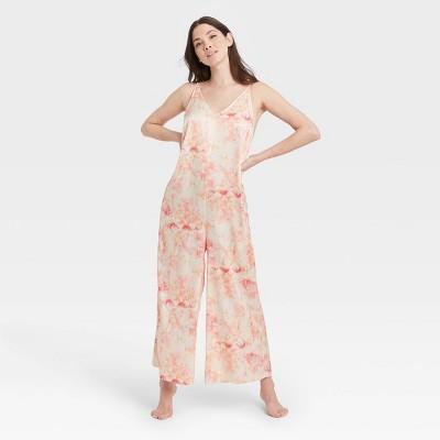 Women's Tie-Dye Satin Jumpsuit - Stars Above™ Pink M